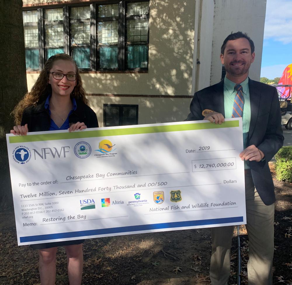 Staff receive NFWF grant award