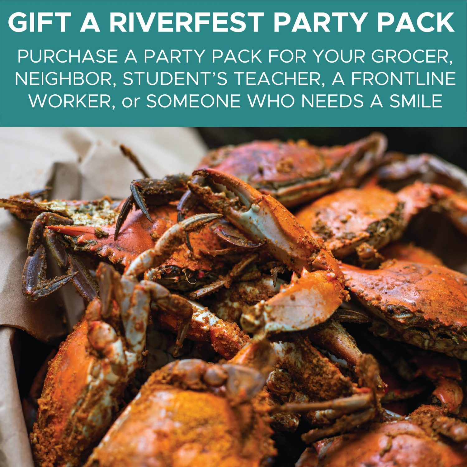 Bushel of crabs to gift a party pack