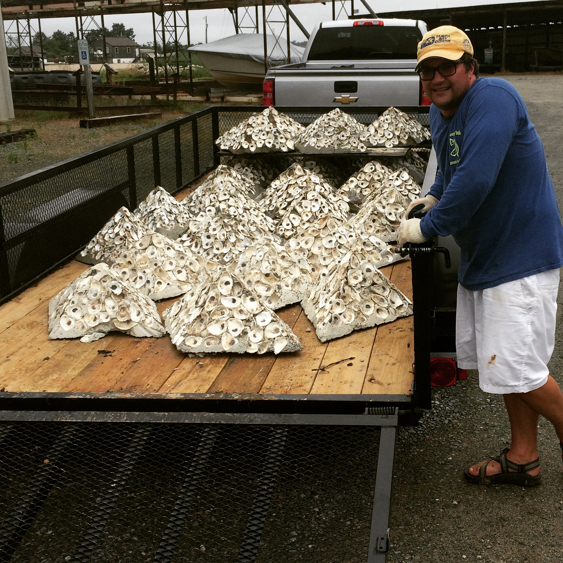 Gearing up for Oyster Reef Installation